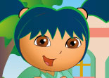Dora se pregateste de scoala